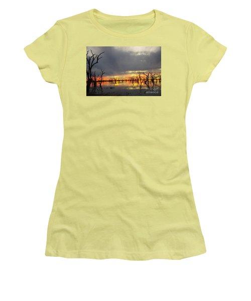 Outback Sunset Women's T-Shirt (Junior Cut) by Blair Stuart