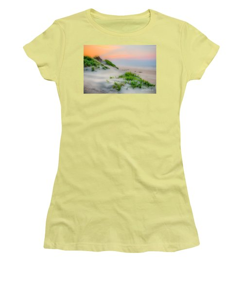 Outer Banks Soft Dune Sunrise Women's T-Shirt (Junior Cut) by Dan Carmichael