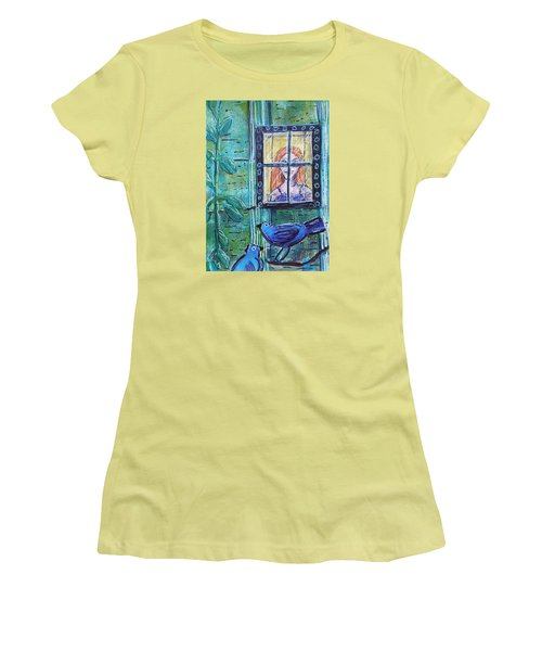 Outside My Window Women's T-Shirt (Athletic Fit)