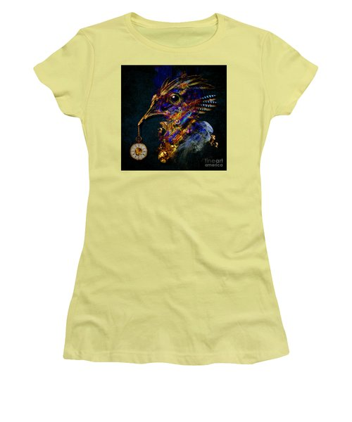 Women's T-Shirt (Junior Cut) featuring the painting Outside Of Time by Alexa Szlavics