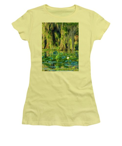 Outstanding Lotus Women's T-Shirt (Athletic Fit)