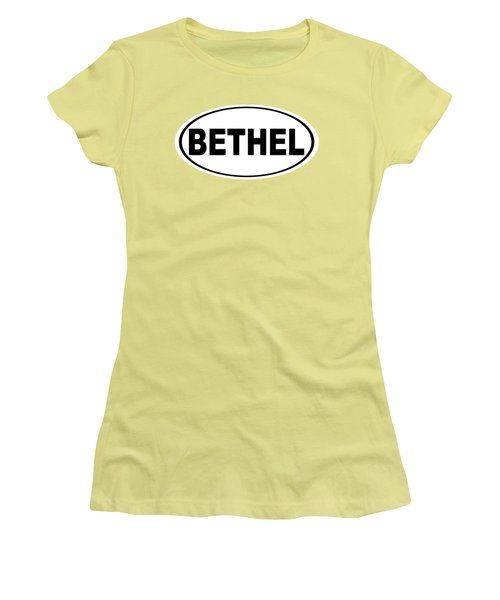 Women's T-Shirt (Junior Cut) featuring the photograph Oval Bethel Connecticut Home Prid by Keith Webber Jr