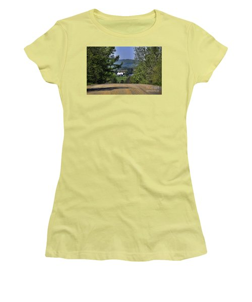 Over The Hill Women's T-Shirt (Junior Cut) by Jim Lepard