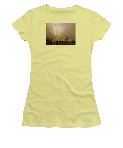 Over The Rainbow Garden Women's T-Shirt (Junior Cut) by Deborah Moen