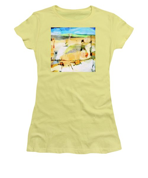 Women's T-Shirt (Junior Cut) featuring the painting Overlook by Dominic Piperata