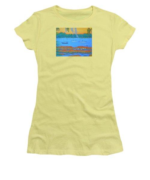 Overnight In Beaufort Women's T-Shirt (Junior Cut) by Dwain Ray