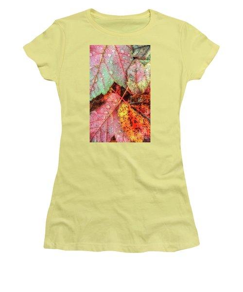 Overnight Rain Leaves Women's T-Shirt (Athletic Fit)
