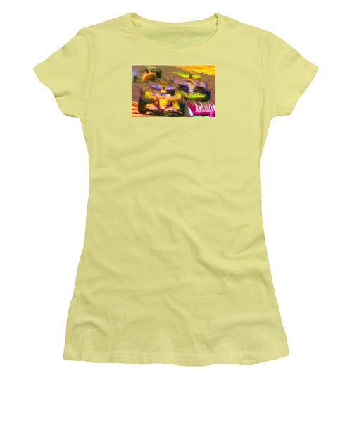 Overtaking Women's T-Shirt (Junior Cut) by Caito Junqueira