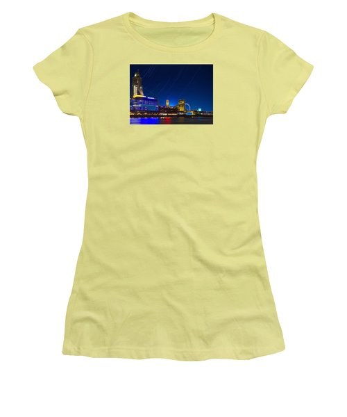 Oxo Tower Star Trails Women's T-Shirt (Athletic Fit)