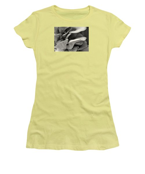 Oyster Mushroom Abstract Lv Women's T-Shirt (Junior Cut) by Shirley Mitchell