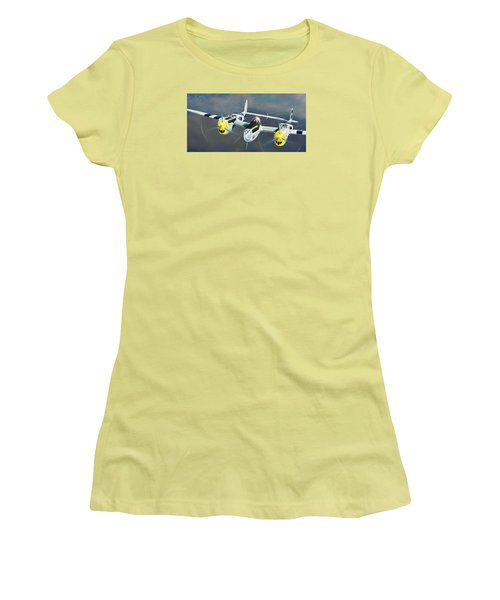 P-38 On The Prowl Women's T-Shirt (Athletic Fit)