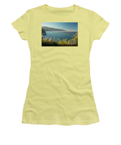Women's T-Shirt (Junior Cut) featuring the photograph Pacific Ocean, Big Sur by Dana Sohr