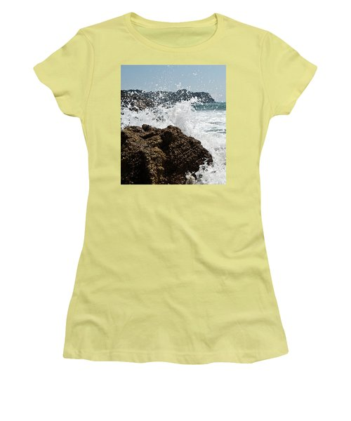Women's T-Shirt (Junior Cut) featuring the photograph Pacific Splash by Yurix Sardinelly