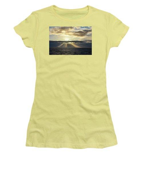 Women's T-Shirt (Junior Cut) featuring the photograph Pacific Sunset by Allen Carroll