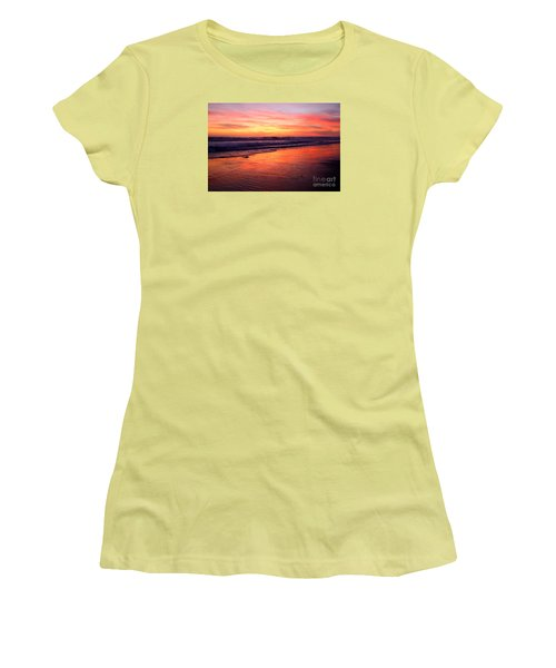 Women's T-Shirt (Athletic Fit) featuring the photograph  Cardiff Coast  by John F Tsumas