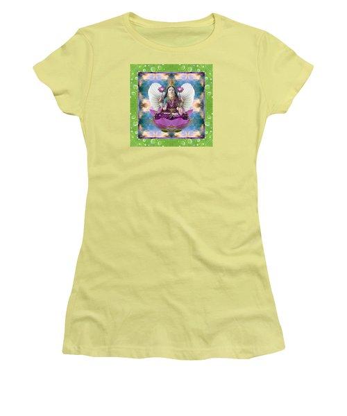 Padma Lotus Women's T-Shirt (Athletic Fit)