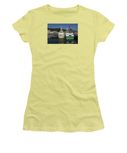 Padstow Fishing Boats Women's T-Shirt (Athletic Fit)