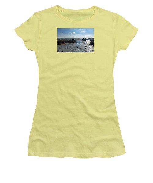 Padstow Harbour Women's T-Shirt (Junior Cut) by Brian Roscorla