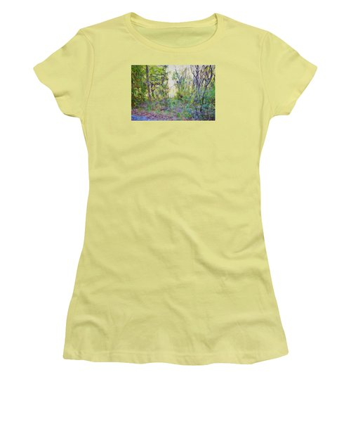 Painted Forrest Women's T-Shirt (Junior Cut) by Rena Trepanier