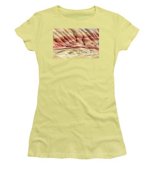 Painted Hills Landscape Women's T-Shirt (Junior Cut) by Pierre Leclerc Photography
