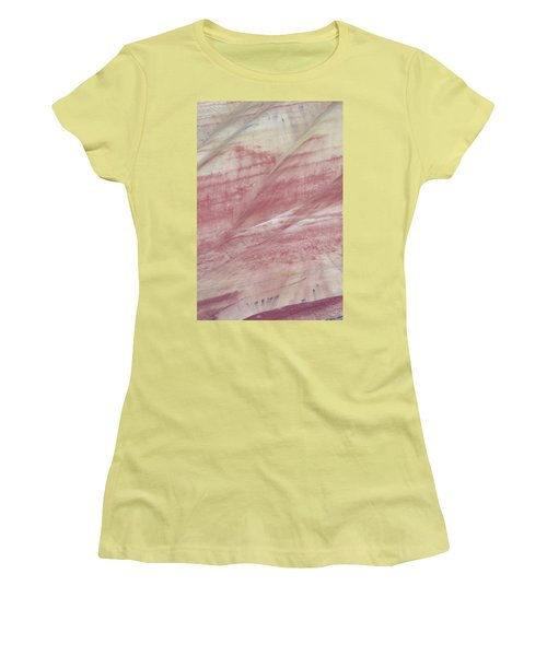 Women's T-Shirt (Junior Cut) featuring the photograph Painted Hills Textures 1 by Leland D Howard