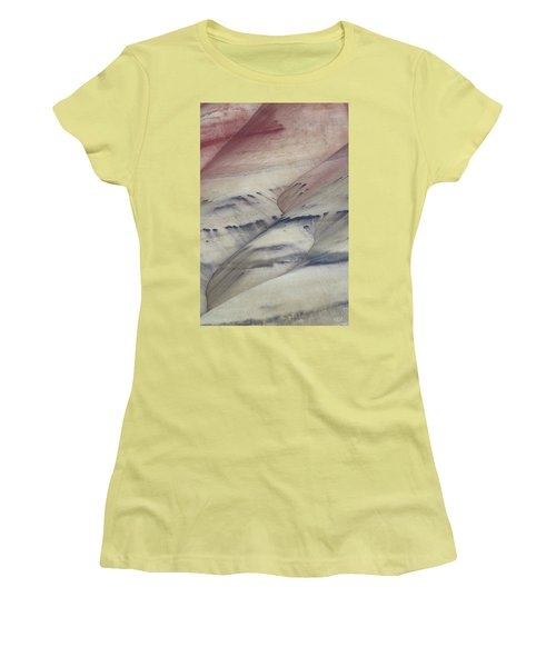 Women's T-Shirt (Junior Cut) featuring the photograph Painted Hills Textures 2 by Leland D Howard