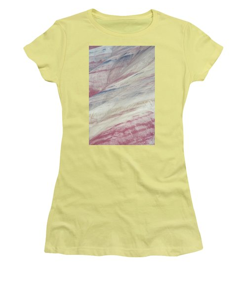 Women's T-Shirt (Junior Cut) featuring the photograph Painted Hills Textures 3 by Leland D Howard