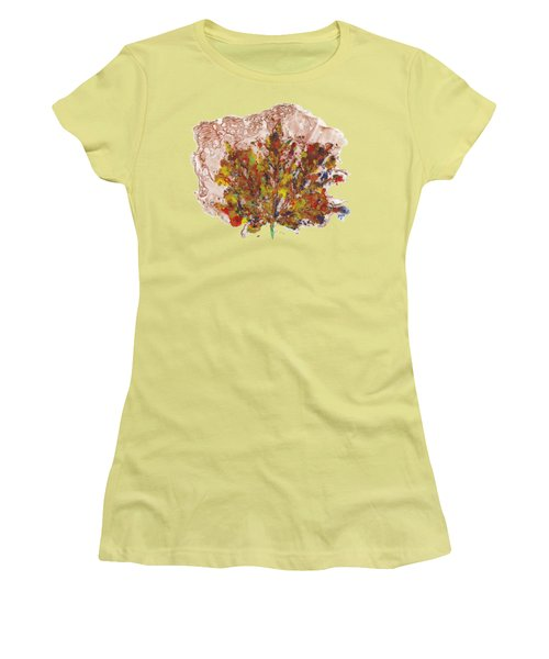 Women's T-Shirt (Junior Cut) featuring the painting Painted Nature 3 by Sami Tiainen