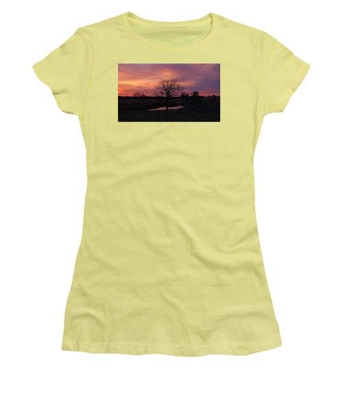 Painted Sky Women's T-Shirt (Junior Cut) by Ricardo J Ruiz de Porras