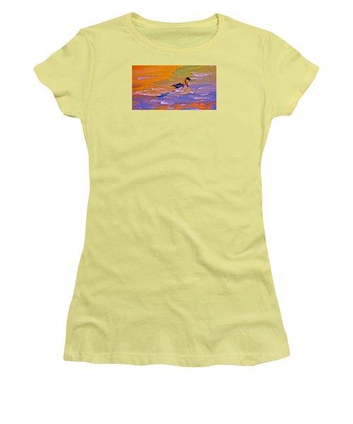 Painterly Escape Women's T-Shirt (Athletic Fit)