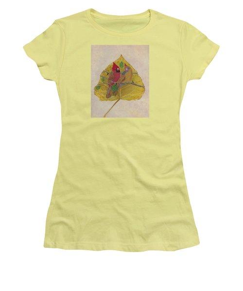 Pair Of Cardinals Women's T-Shirt (Junior Cut) by Ralph Root