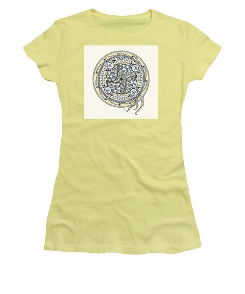 Paisley Balance Mandala Women's T-Shirt (Athletic Fit)