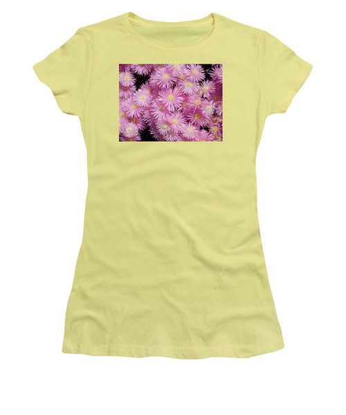 Pale Pink Flowers Women's T-Shirt (Athletic Fit)