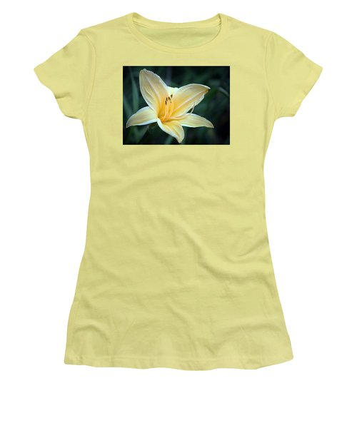 Pale Yellow Day Lily Women's T-Shirt (Athletic Fit)