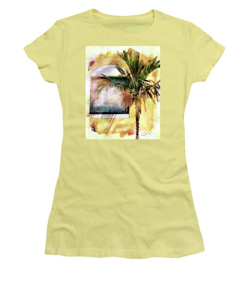 Palm And Window Women's T-Shirt (Junior Cut) by Robert Smith