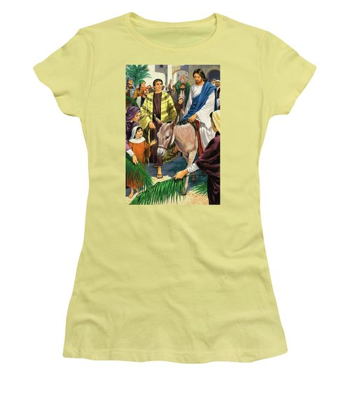 Palm Sunday Women's T-Shirt (Junior Cut) by Clive Uptton