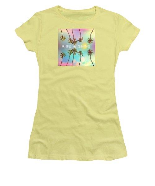 Palm Trees Women's T-Shirt (Junior Cut) by Mark Ashkenazi