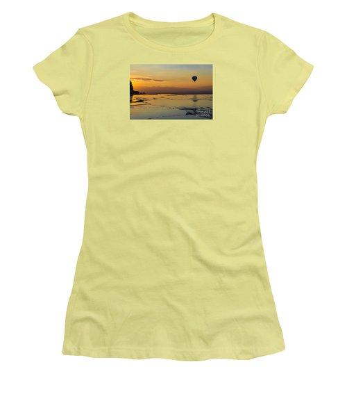 Women's T-Shirt (Junior Cut) featuring the photograph Pammukale Sunset by Yuri Santin
