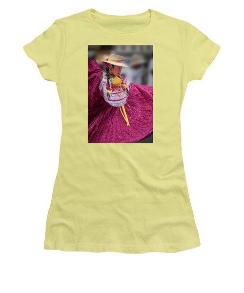 Panamanian Dancer 1 Women's T-Shirt (Athletic Fit)