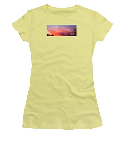 Panorama Sunset  Women's T-Shirt (Junior Cut)