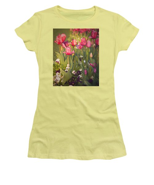 Pansies And Tulips Women's T-Shirt (Athletic Fit)