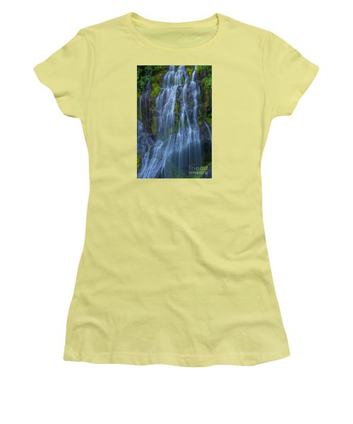 Panther Creek Falls Summer Waterfall -close 2 Women's T-Shirt (Athletic Fit)