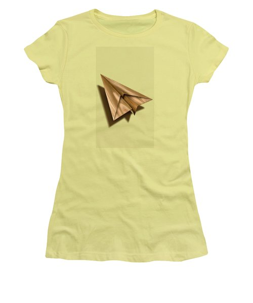 Paper Airplanes Of Wood 1 Women's T-Shirt (Junior Cut) by YoPedro