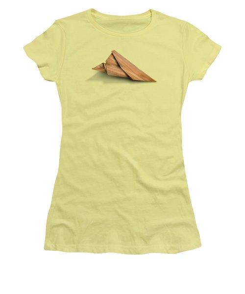 Paper Airplanes Of Wood 2 Women's T-Shirt (Junior Cut) by Yo Pedro
