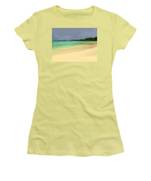 Women's T-Shirt (Junior Cut) featuring the digital art Paradise by Anthony Fishburne