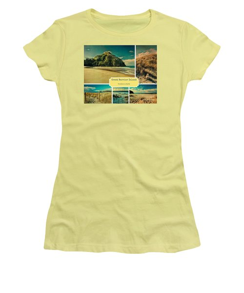 Paradise At The Barrier Women's T-Shirt (Athletic Fit)