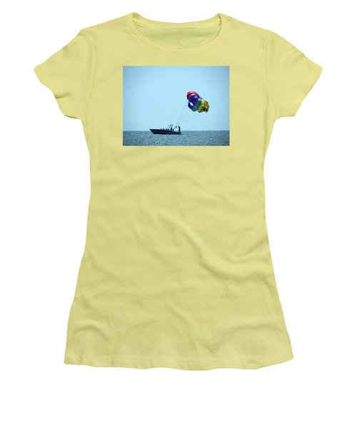 Women's T-Shirt (Junior Cut) featuring the photograph Parasail by Cathy Harper