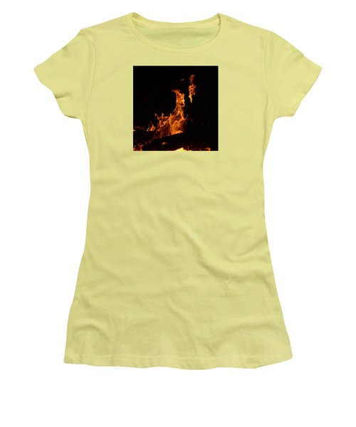 Pareidolia Fire Women's T-Shirt (Junior Cut) by Janet Rockburn