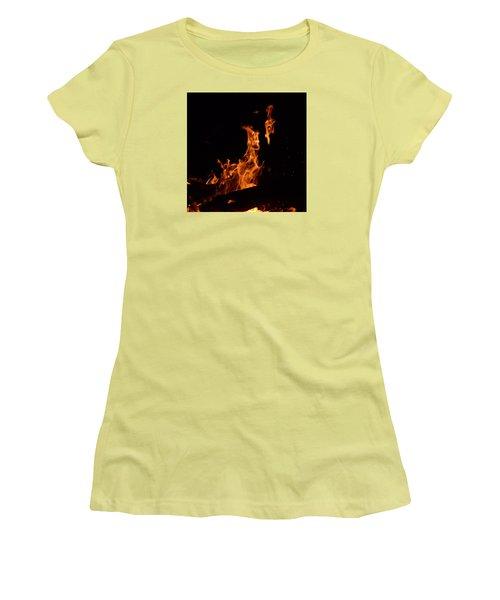 Pareidolia Fire Women's T-Shirt (Athletic Fit)