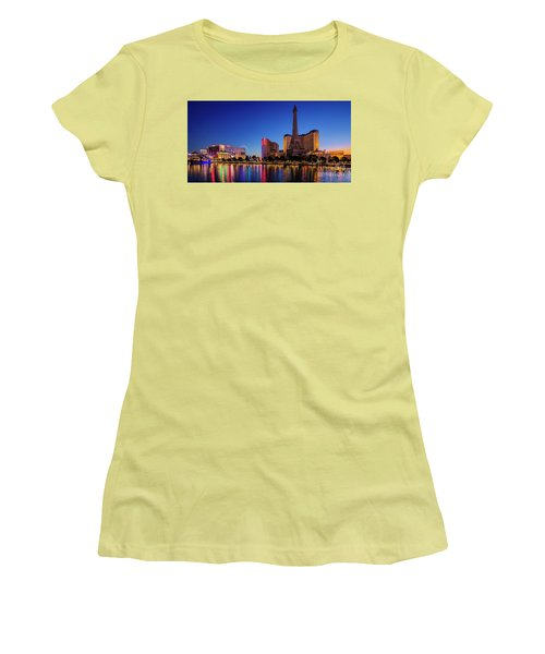 Paris Casino At Dawn 2 To 1 Ratio Women's T-Shirt (Athletic Fit)